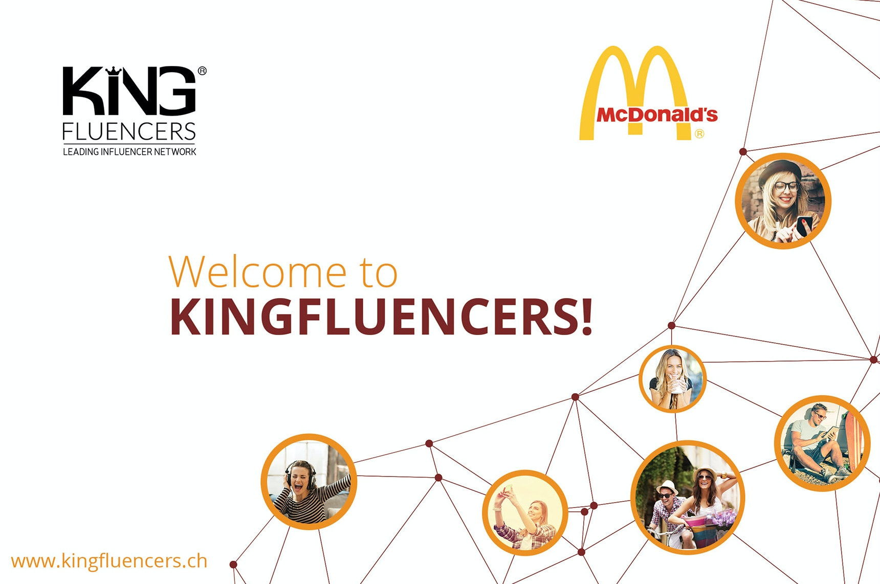 Kingfluencers web page design