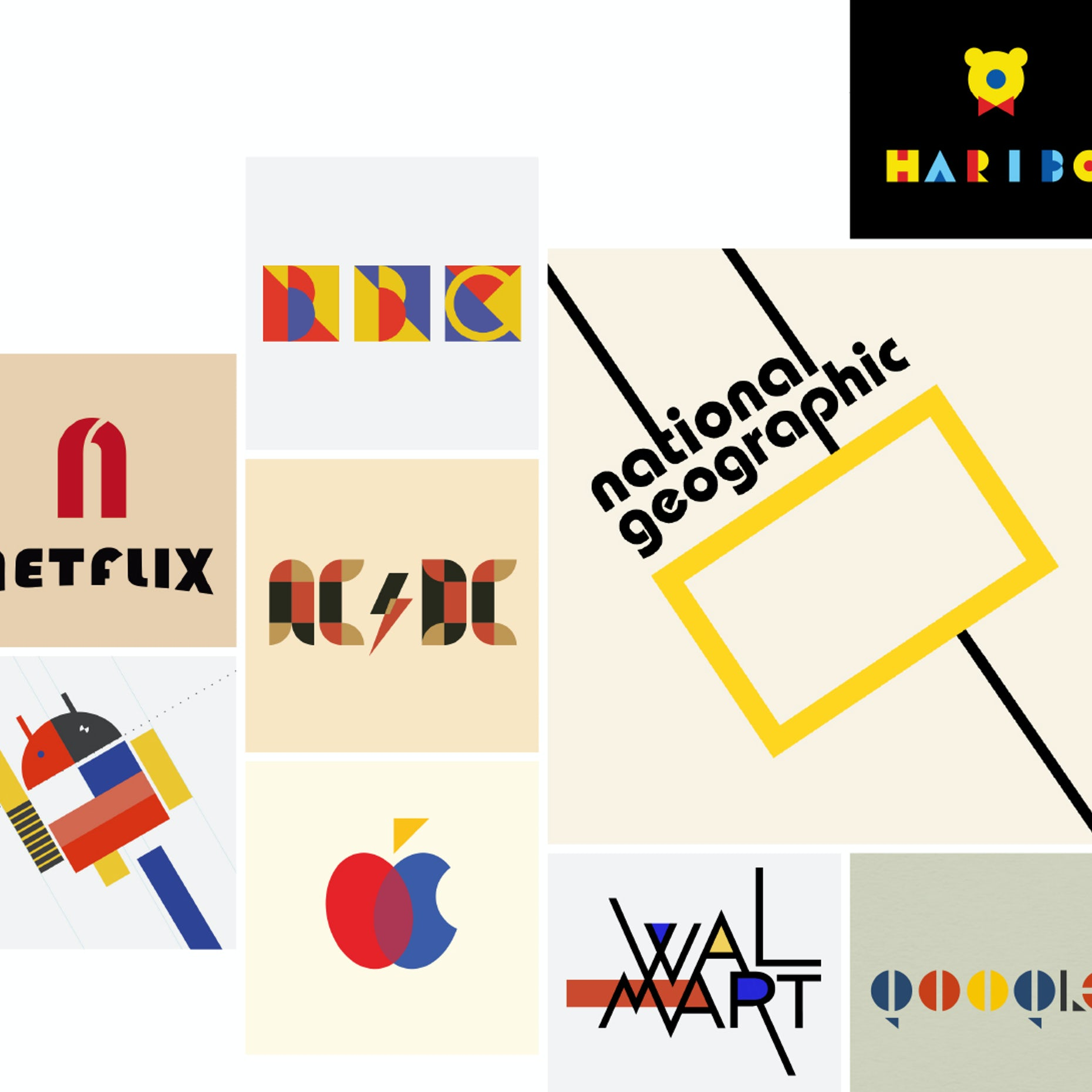 755e1d541edd40 100 Jahre Bauhaus  Bekannte Logos im Bauhaus-Stil - 99designs