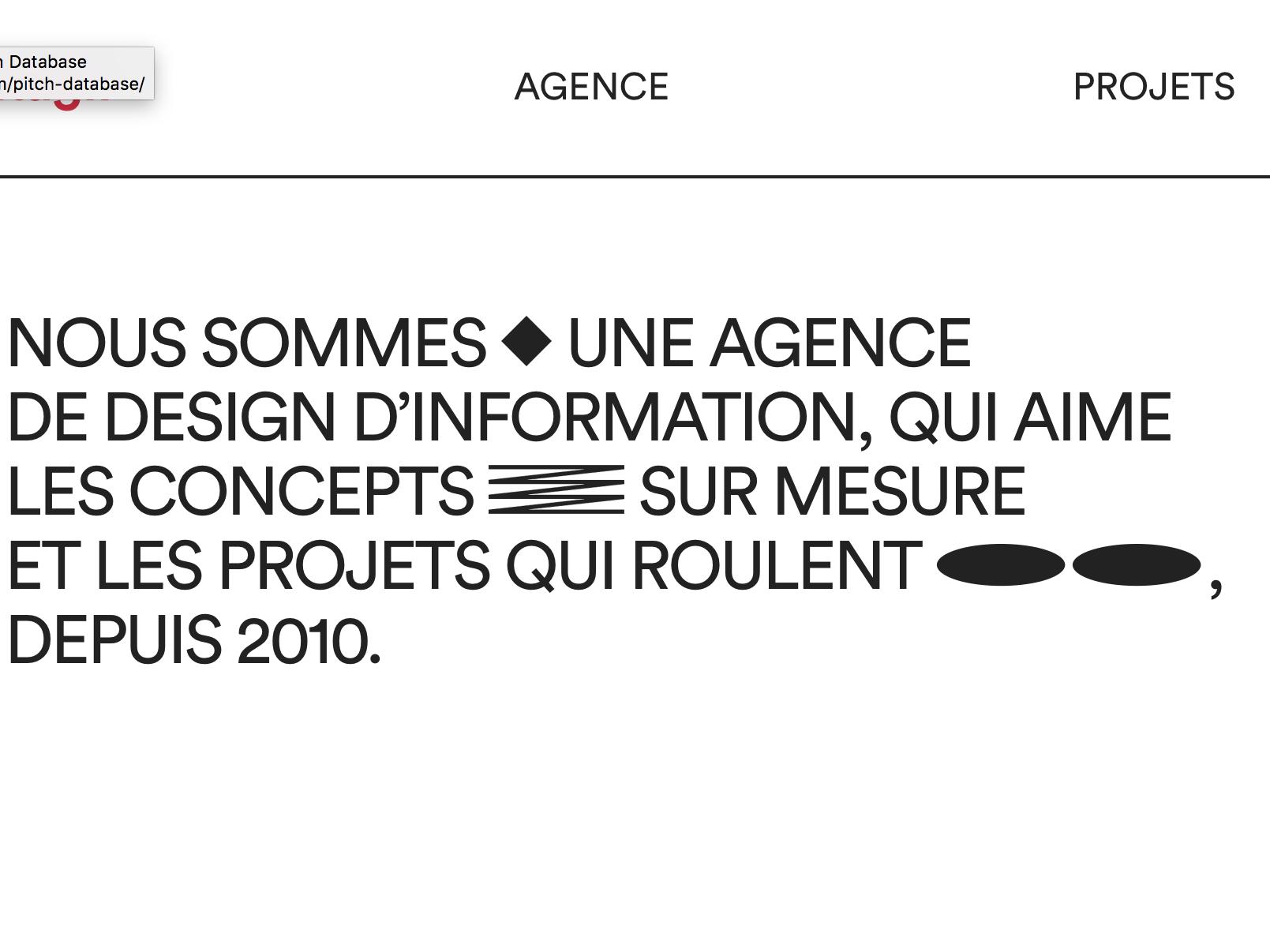 Datagif web design