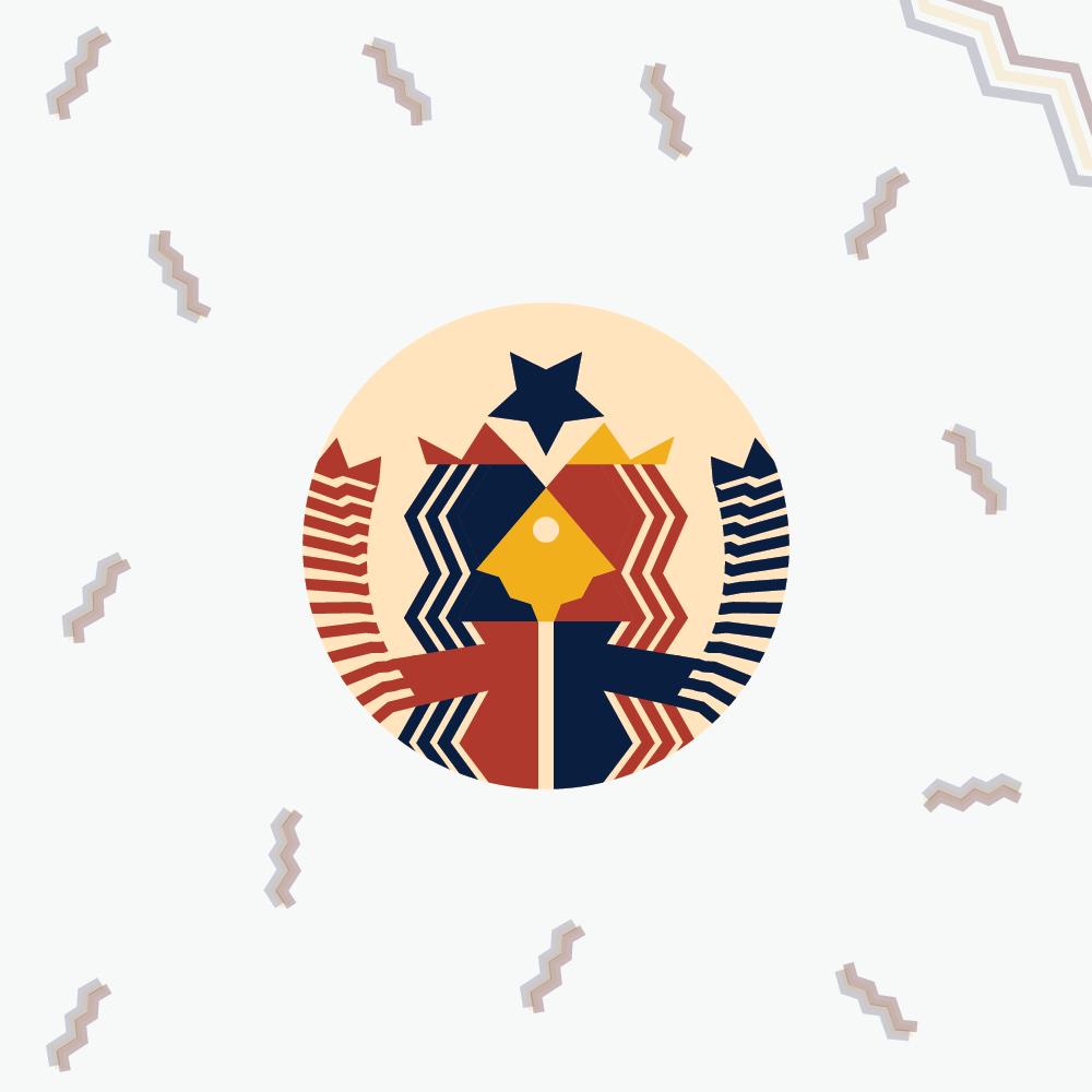 Starbucks logo in Bauhaus design style