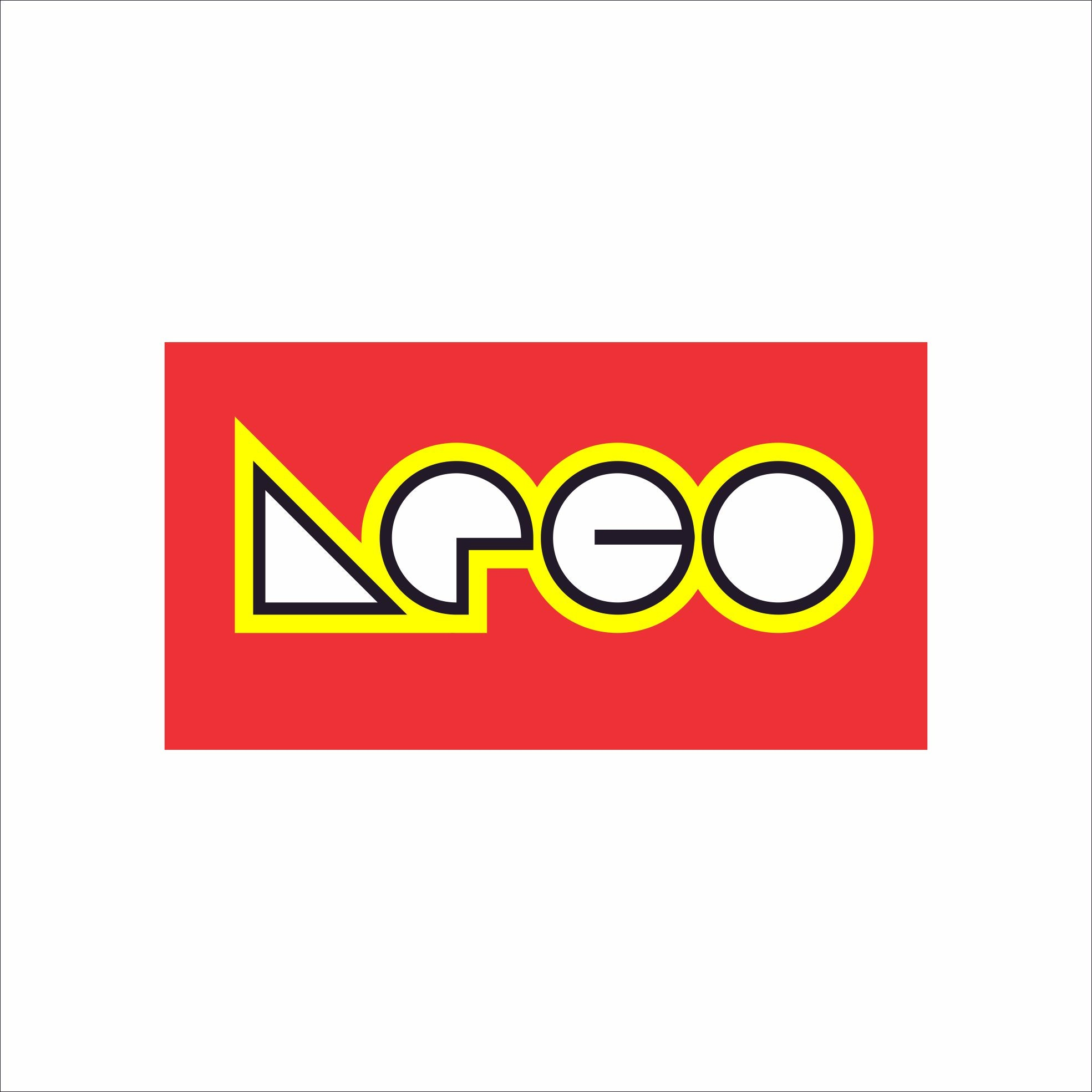 Lego logo in Bauhaus design style