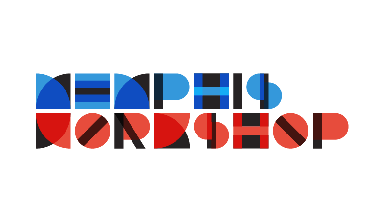 Memphis Workshop logo with Bauhaus design