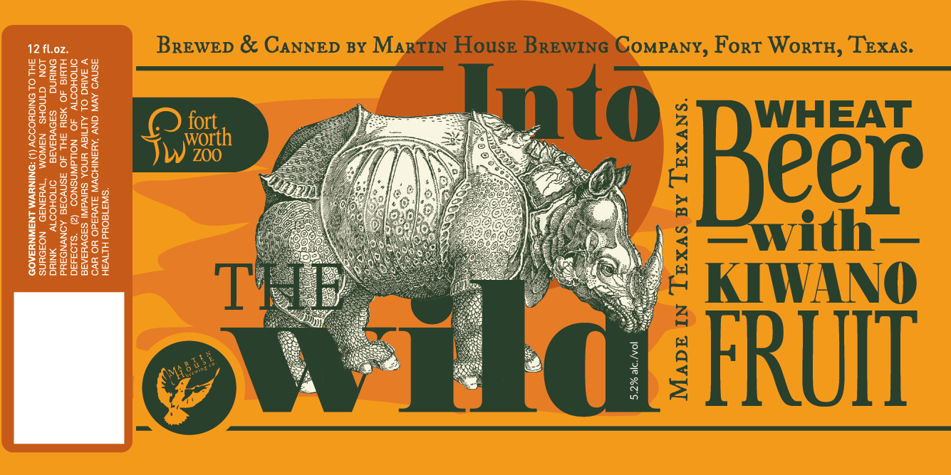 Rhino beer label