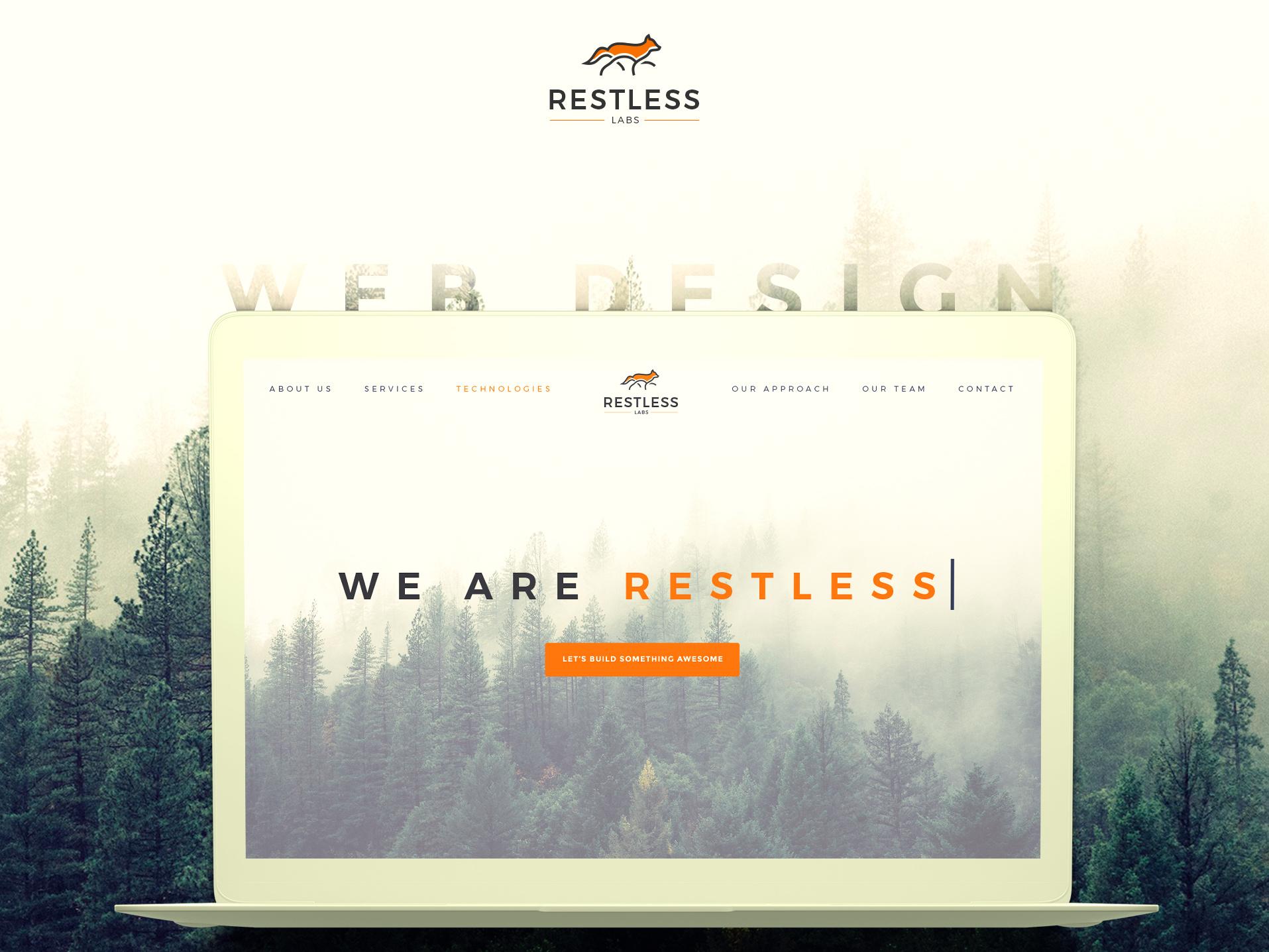 Restless Labs web design