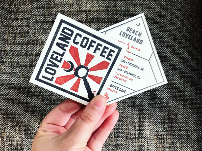 Loveland Coffee business cards