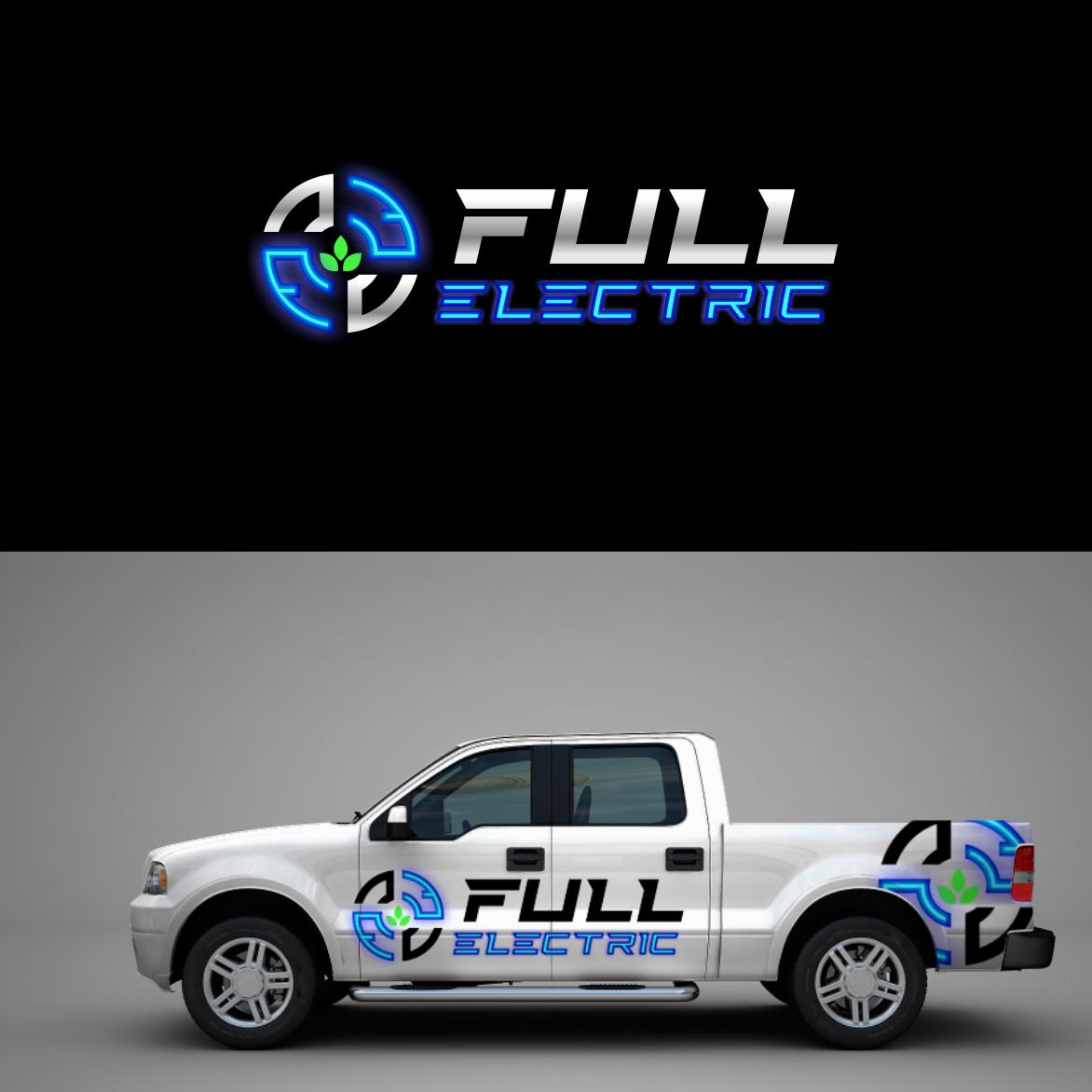 A neon futuristic logo