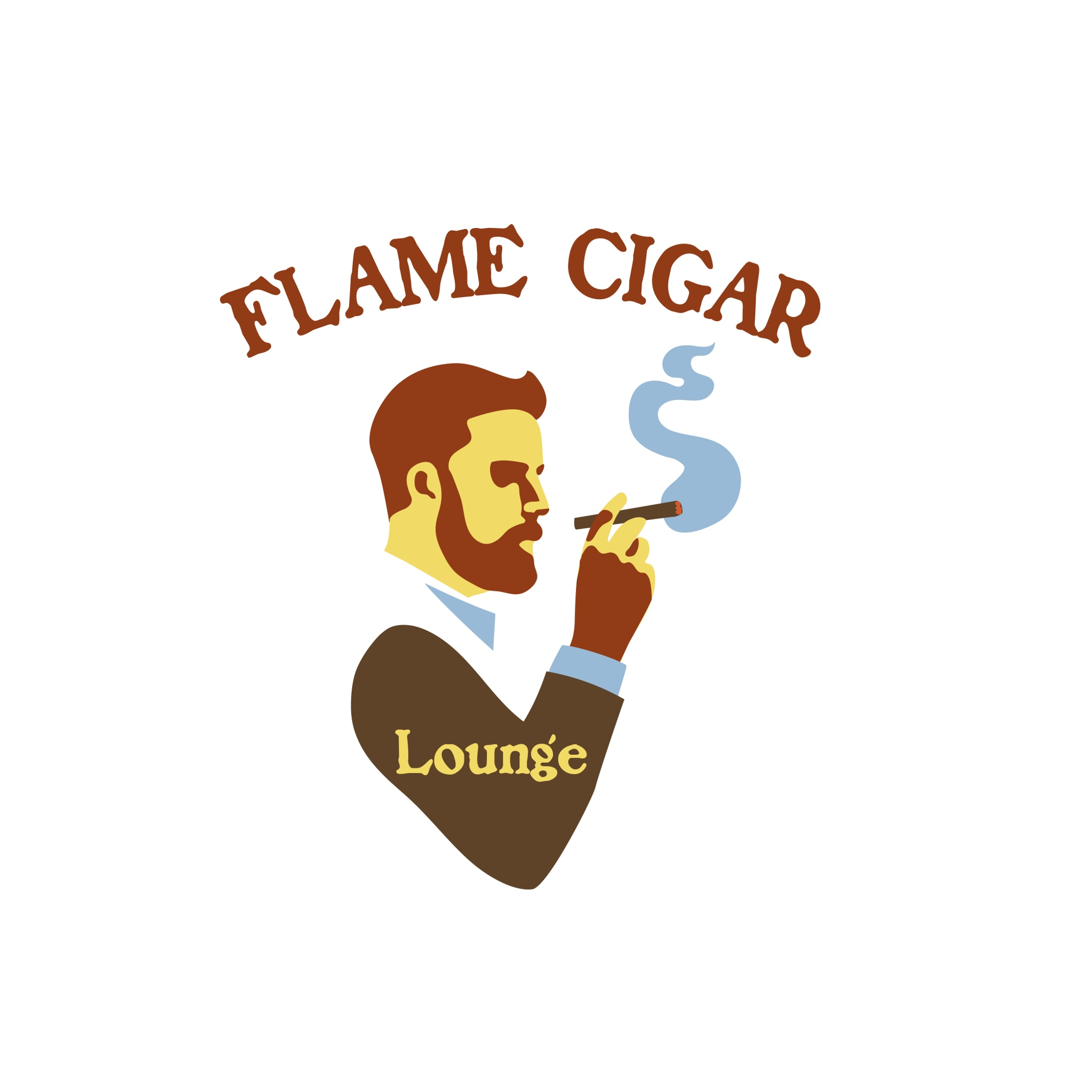 Logo design for Flame Cigar Lounge