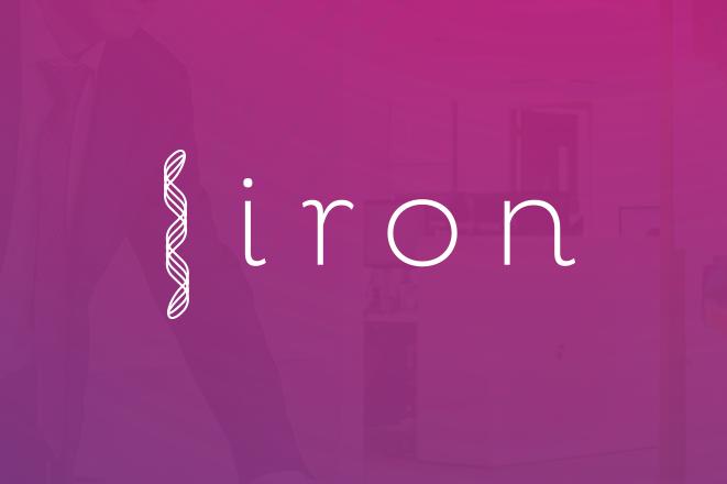 A DNA futuristic logo