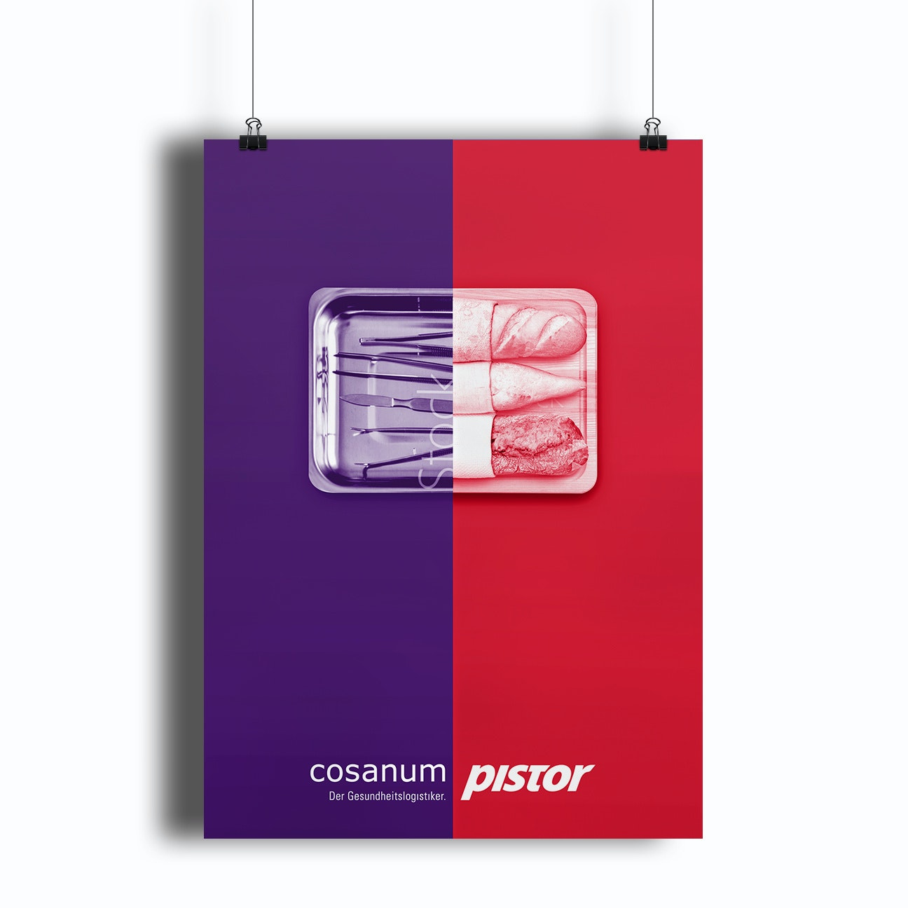 A duotone poster design