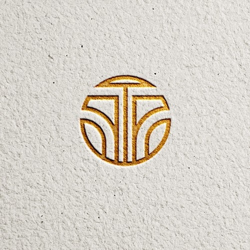 Simple gold logo