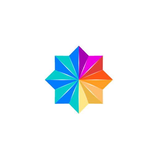 Geometric colored logo
