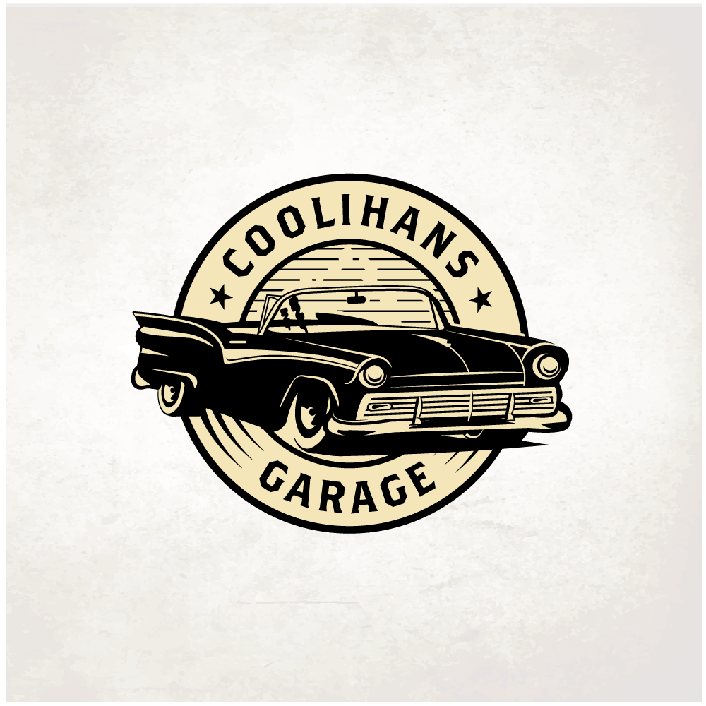 Coolihans Garage retro car logo