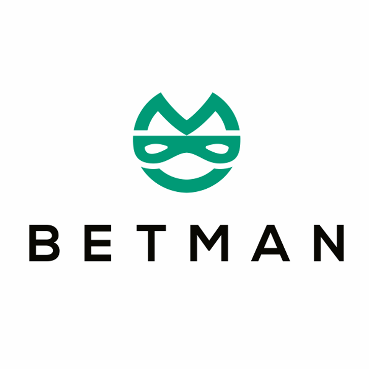 "abstract green image of a masked face with the text ""betman"""