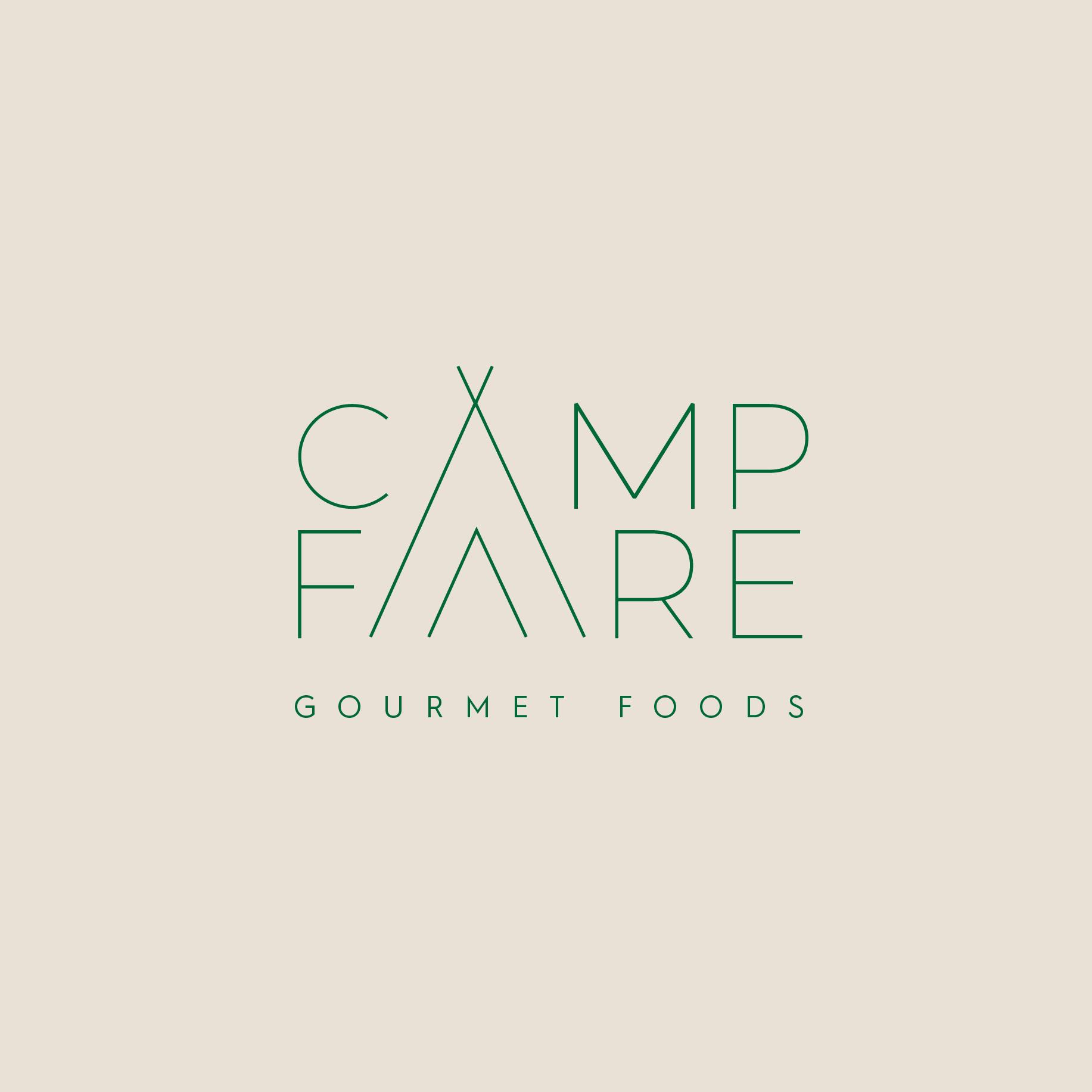Camping meal gourmet line logo