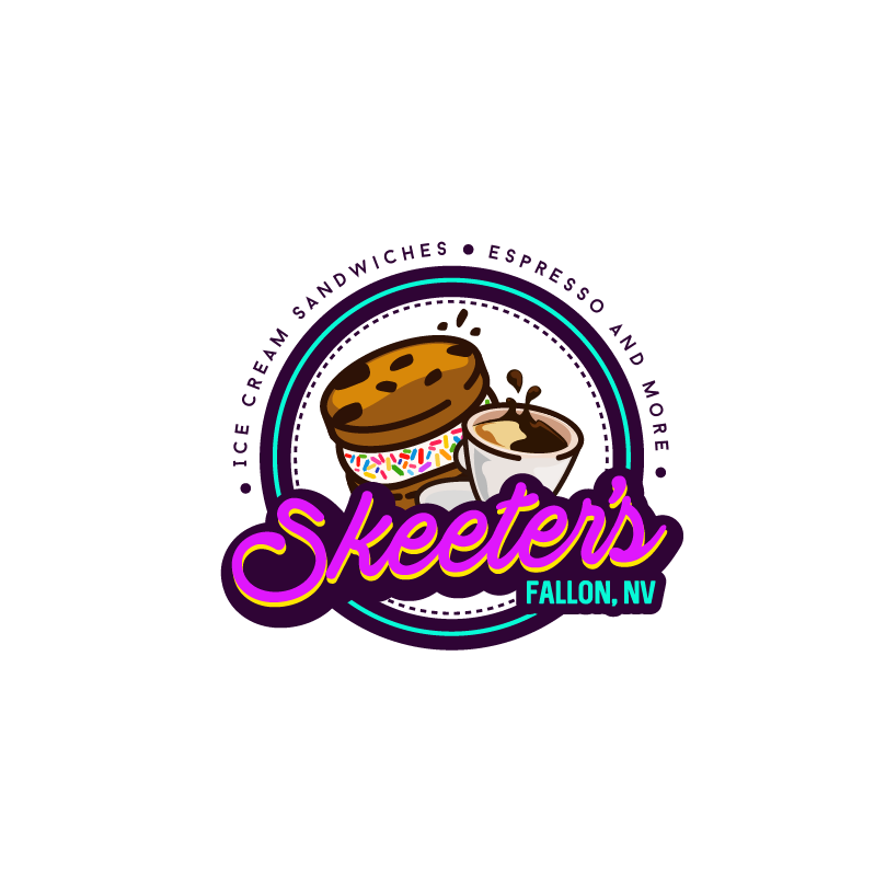 Cookies and ice cream shop logo