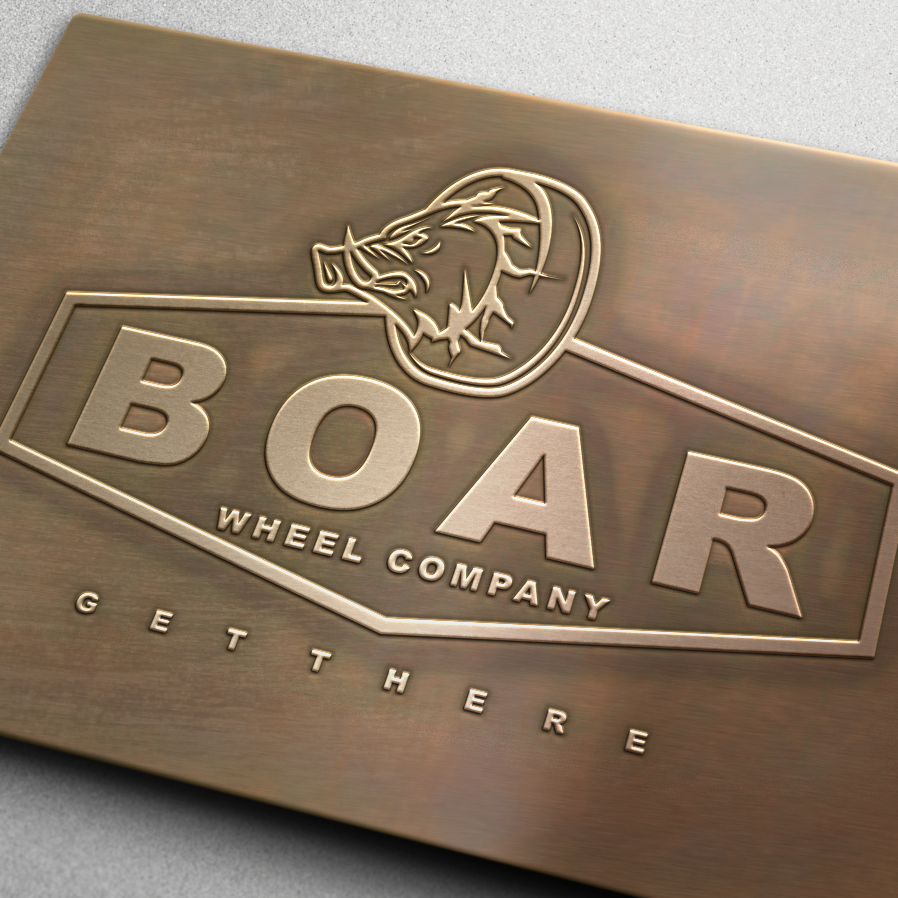 strong metallic car logo