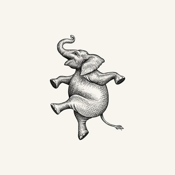 dancing elephant sketch