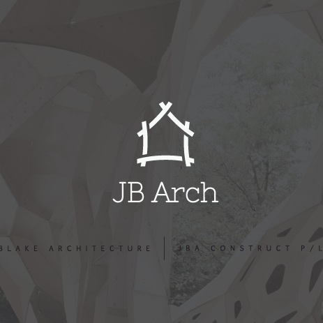 "outline of a house made from unconnected lines with the text ""JB Arch"""