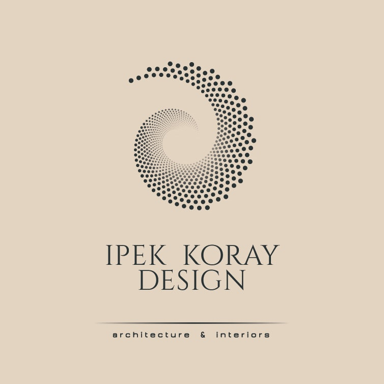 "dots arranged in a fibonacci spiral with the text ""Ipek Koray Design"""
