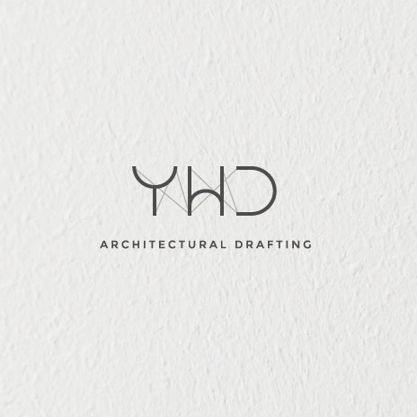 "the letters Y,W,D held up by lines representing strings and the text ""Architectural Drafting"""